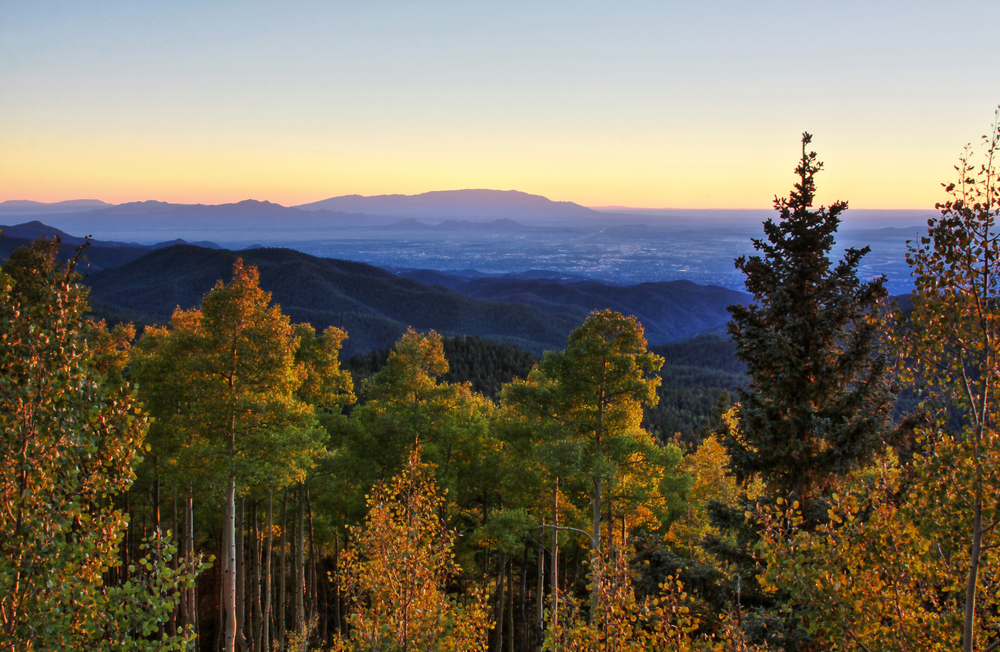 The nature of national forest and monuments in New Mexico are sweeping