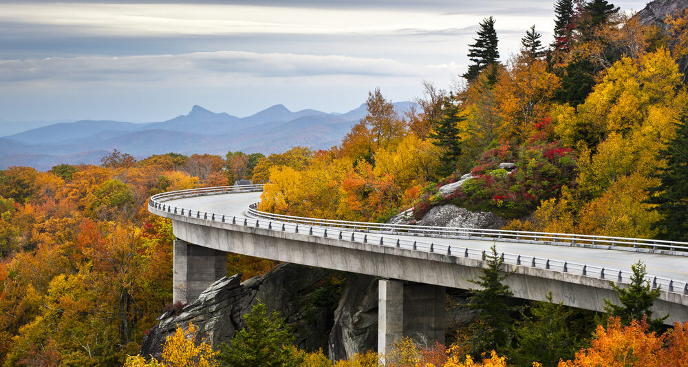 the Blue Ridge Parkway on one of the best road trips in the USA