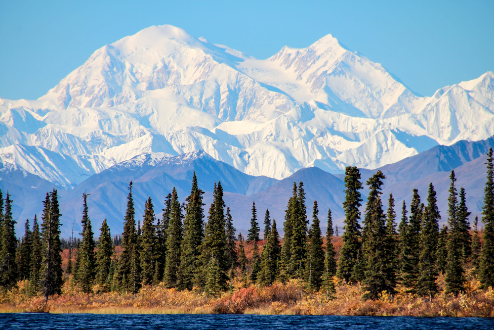 Denali in Alaska on one of the best road trips in the USA