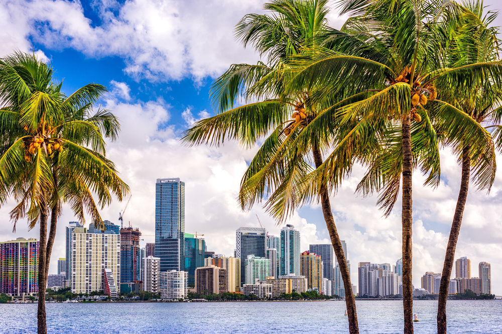 Miami in Florida on one of the best road trips in the USA