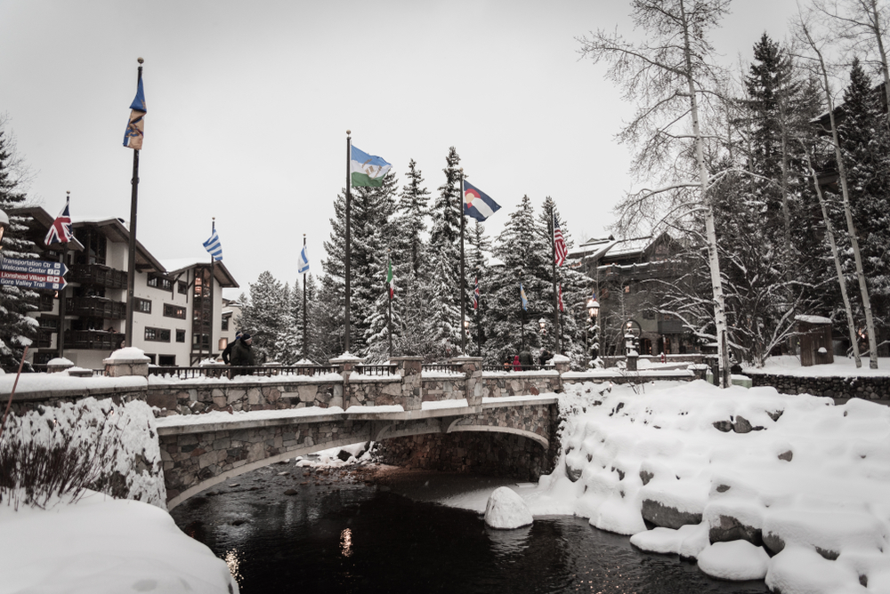 a snowy scene in vail Colorado