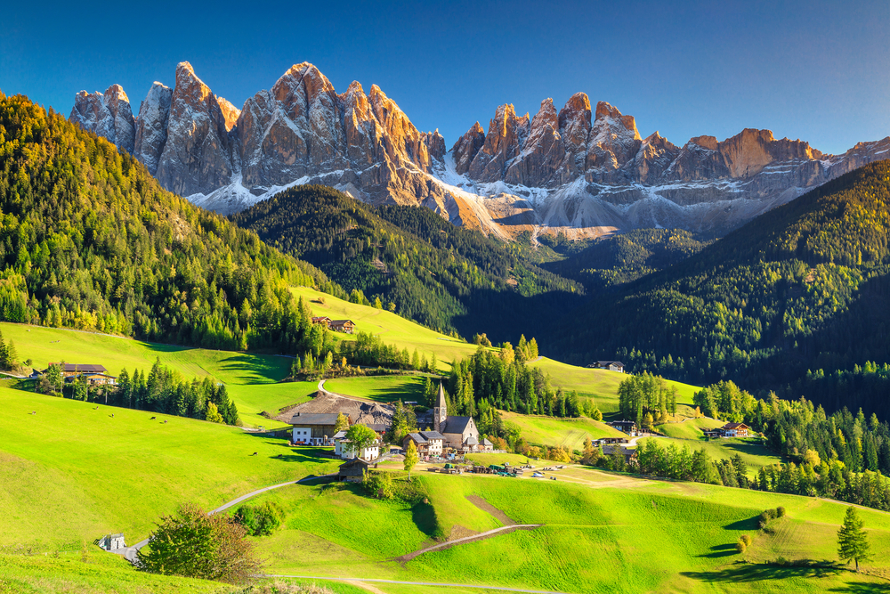 the Dolomites on the best European road trip through Northern Italy