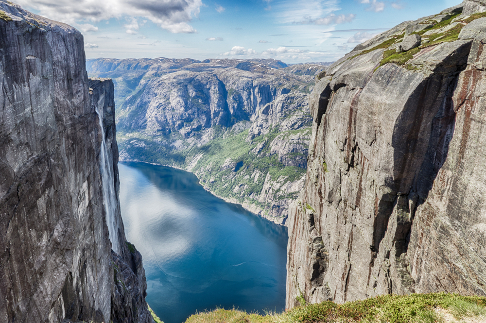 Kjerag mountain on the best European road trip through Norway