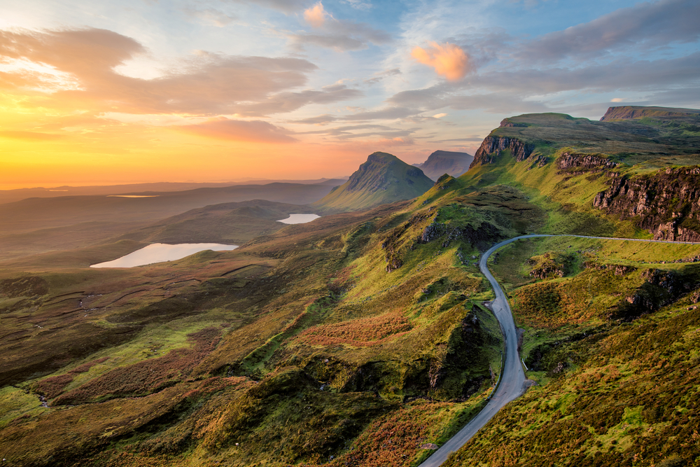 driving through the Isle of Skye on the best European road trip in Scotland