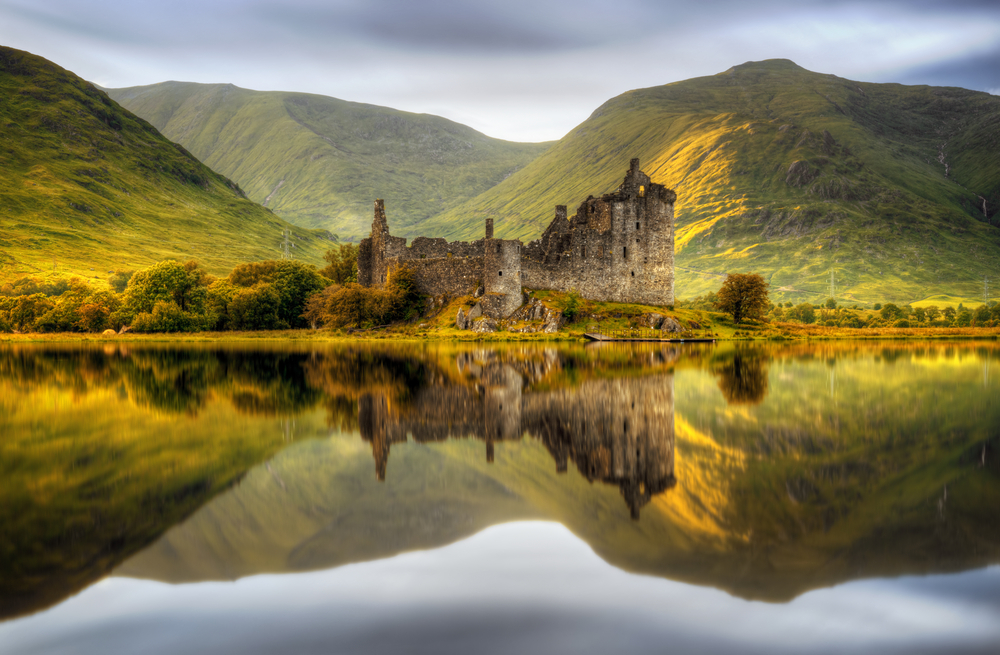 Kilchurn castle on the best European road trip through Scotland