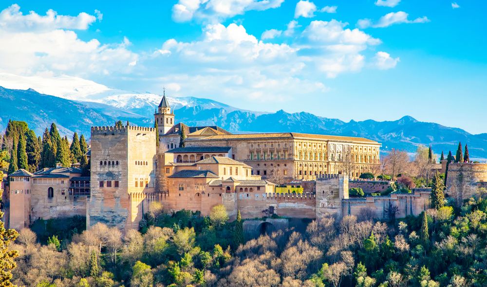 Alhambra palace on the best European road trip through Spain