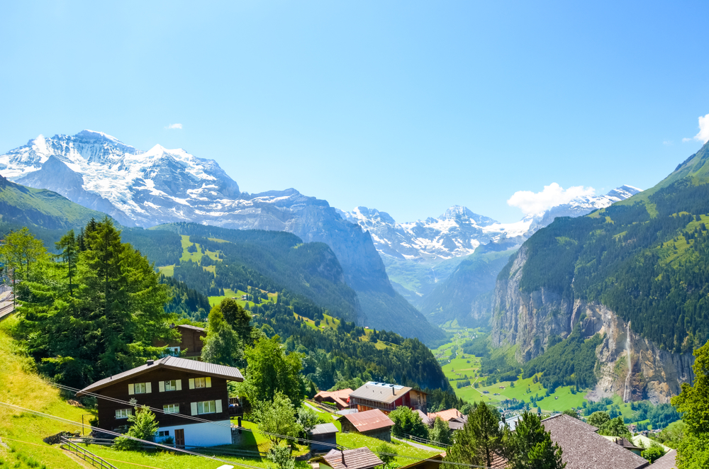 Lauterbrunnen on the best European road trip through Switzerland
