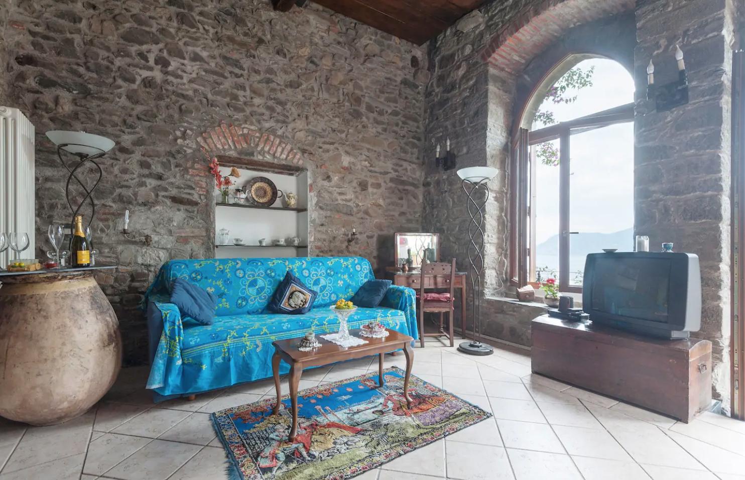 Thia airbnb in cinque terre has the original gothic arches