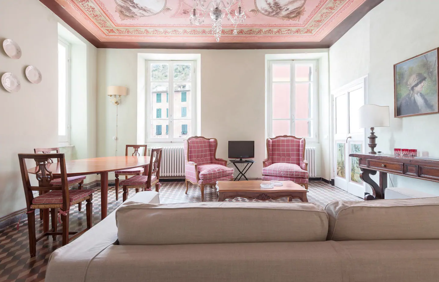 this airbnb in cinque terre is one of the only ones to keep its original decor