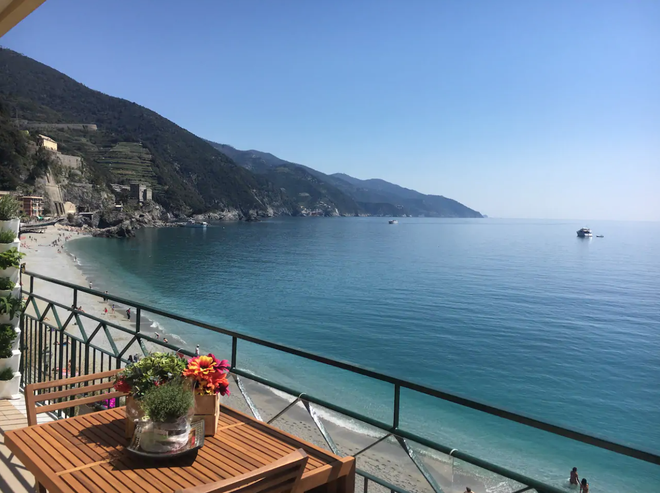 the lungo mare nostro flat is one of the best airbnbs in cinque terre to stay in if you want panoramic sea views