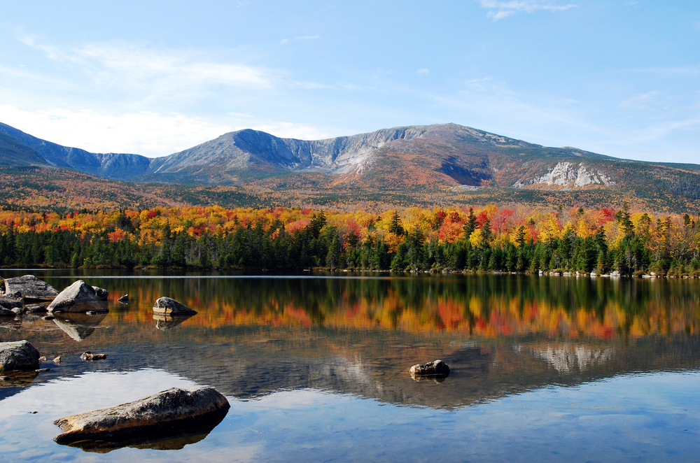 Baxter State Park is a gorgeous outlook in Northern Maine.