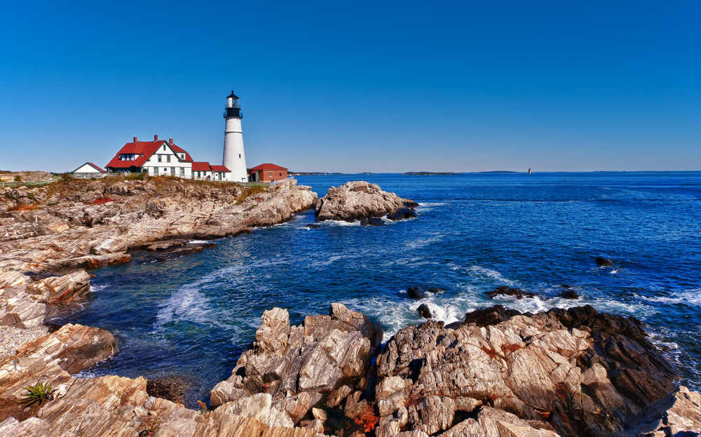 Cape Elizabeth is perfect for witnessing a variety of Lighthouses on your Maine itinerary