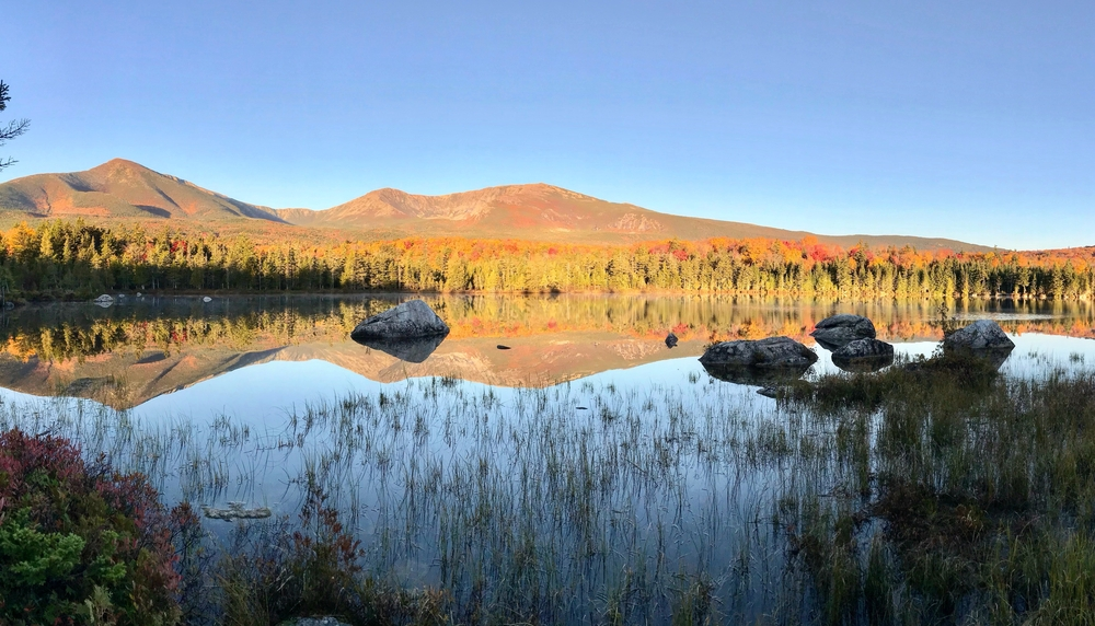 Chimney Pond is a great camp sight in Maine!
