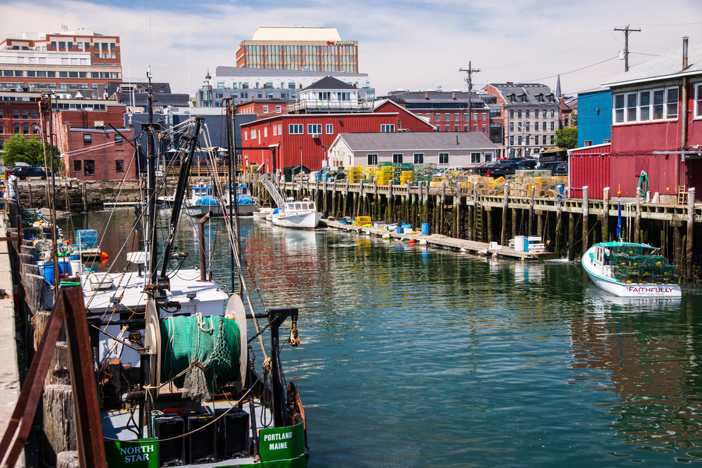 The Old Port is the coolest little fishing town in Maine!