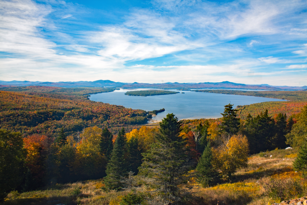 Rangeley Lake is a large body of water in Maine known for its views and fishing!