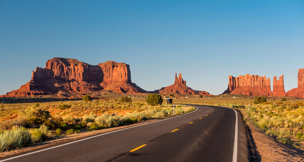 Driving through the southwest will require long stretches of roads and miles