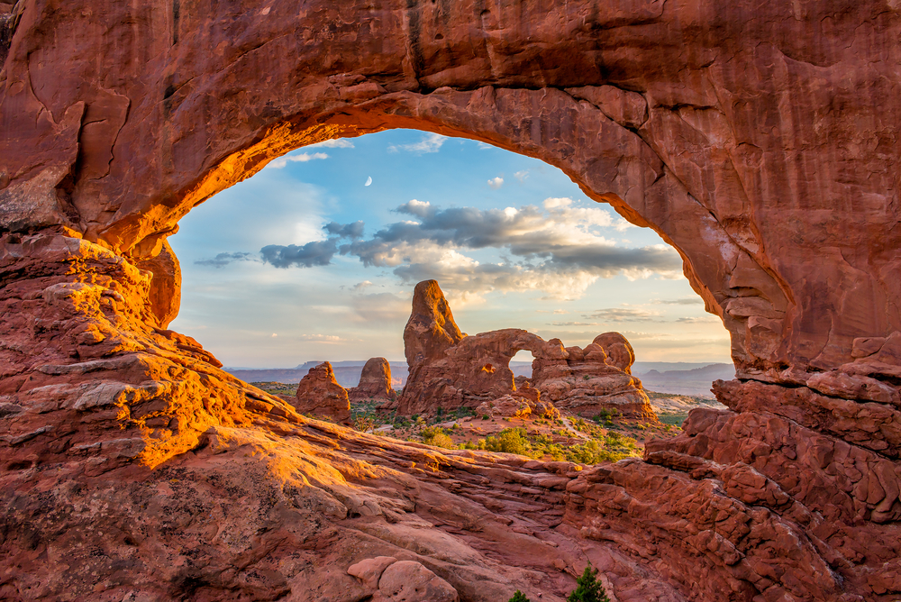 Arches national park is famous for it's vacation of arches and shapes!