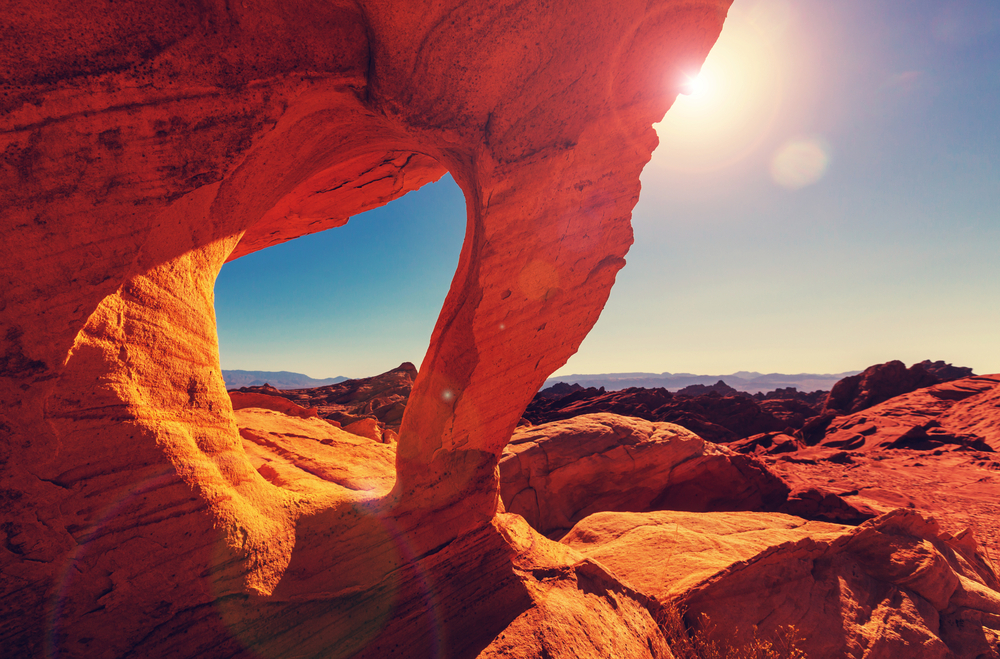 The Valley of Fire is known for it's colors and is close to Vegas