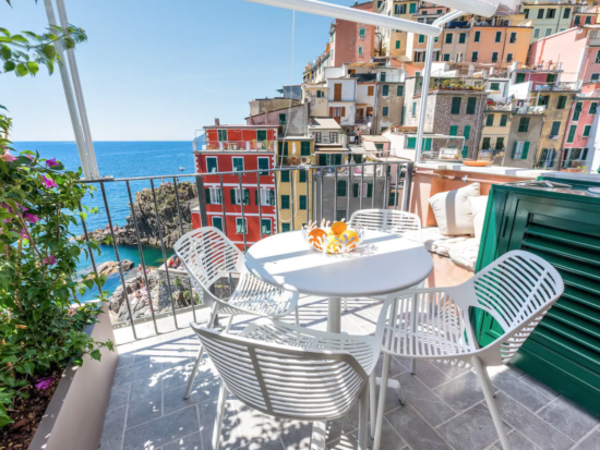 The fist is one of the most romantic airbnbs in cinque terre