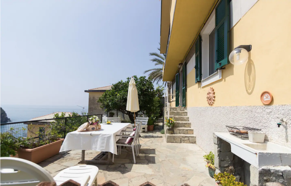 The Villino Caterina is one of the best airbnbs in cinque terre. It comes with a private terrace and lemon trees