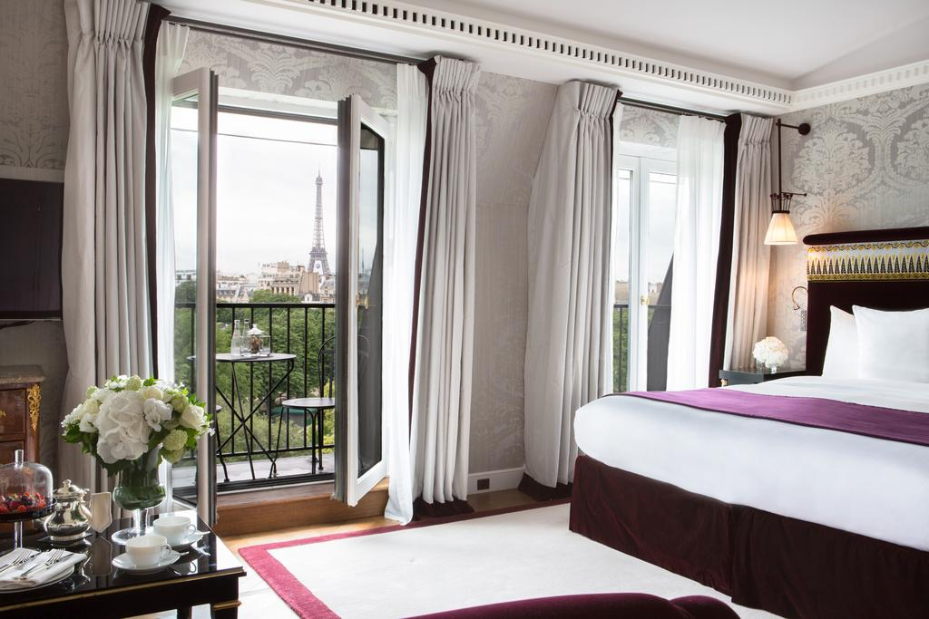 Photo of guest suite at La Reserve Paris Hotel & Spa, one of the best 5 Star hotels in Paris.