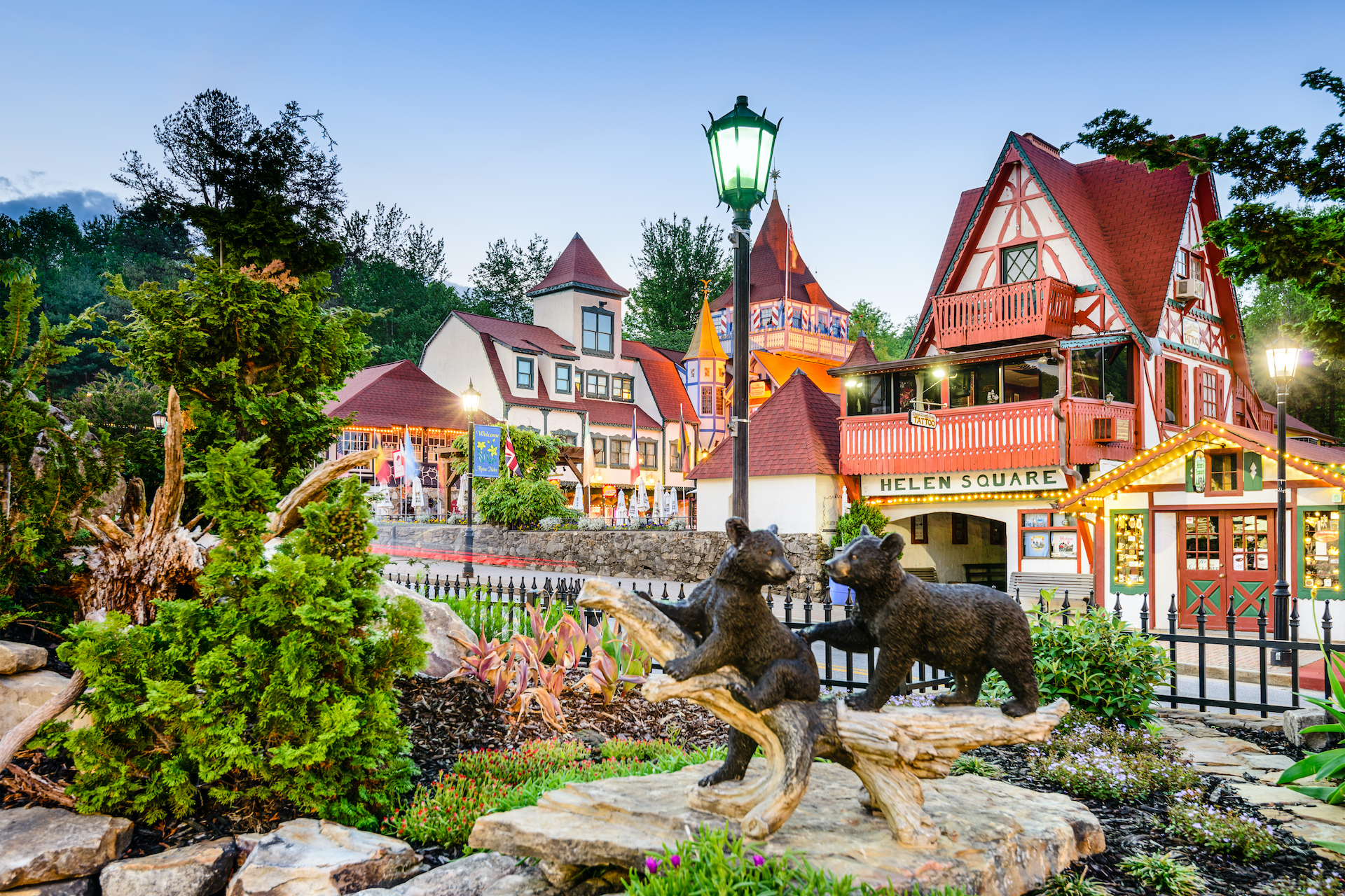 Bavarian-inspired buildings of Helen, Georgia