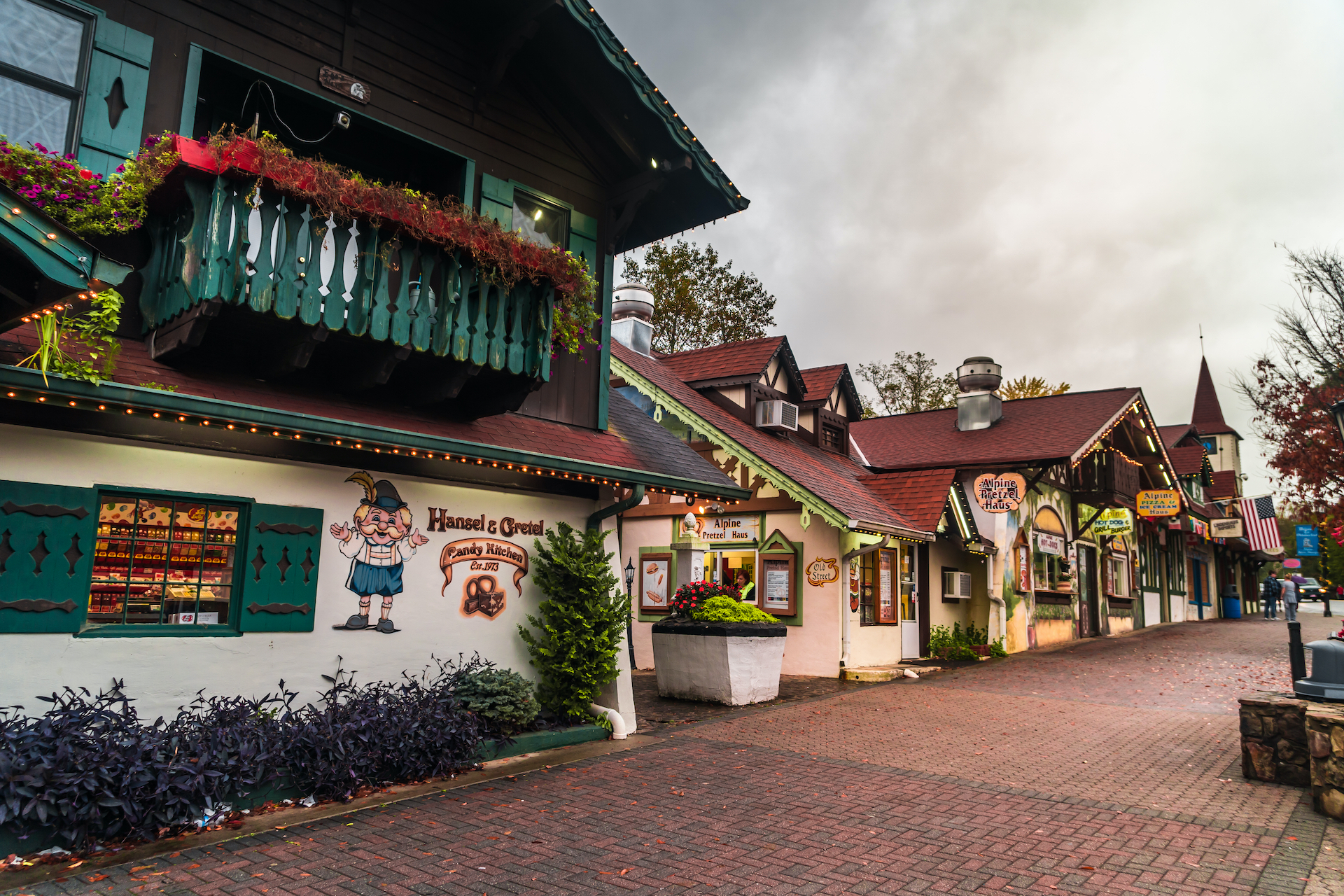 German-inspired buildings of Helen, including Hansel and Gretel candy shop