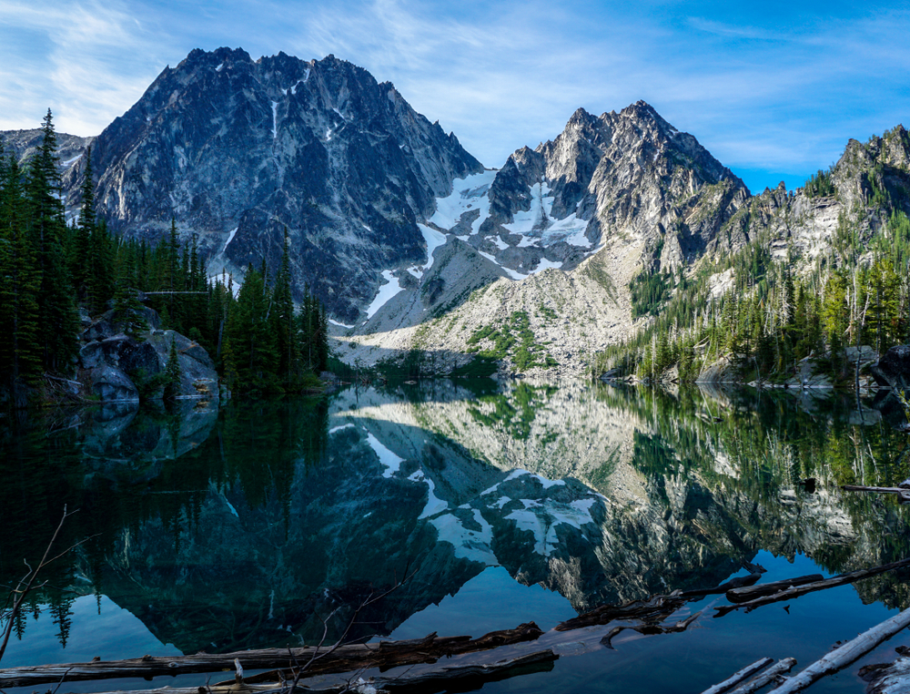 Colchuck lake is one of the most beautiful of the region's lakes and best places to visit in Washington State