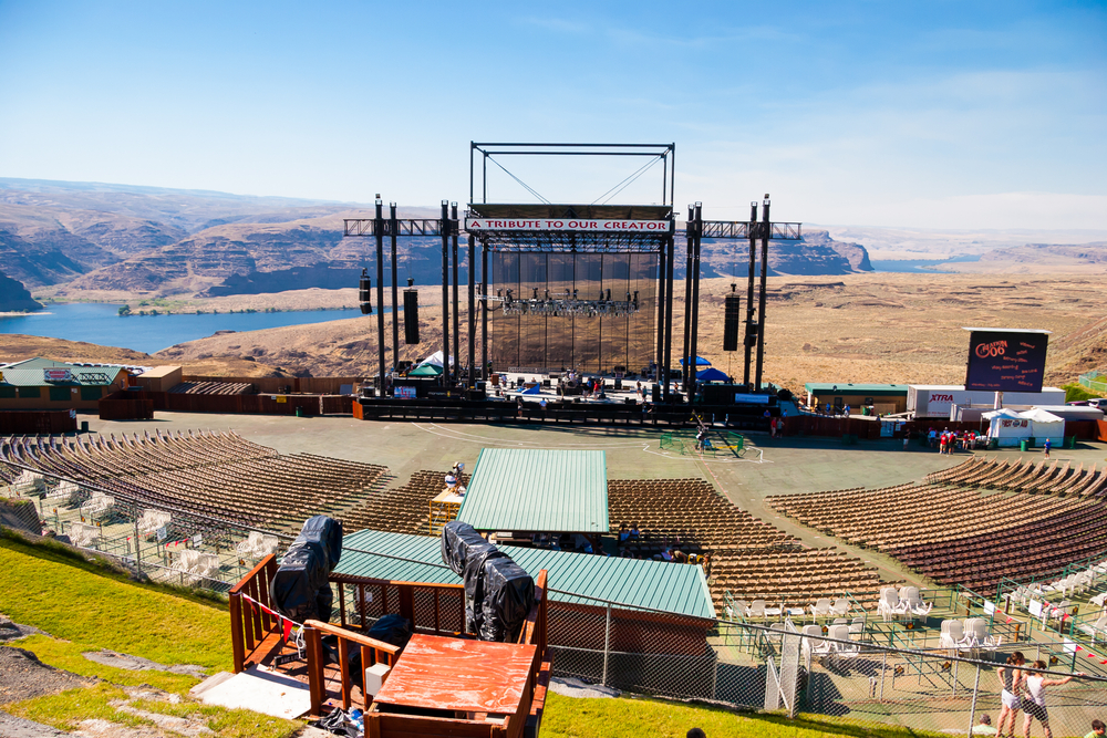Attending a concert at the Gorge Amphitheater is one of the best things to do in Washington State
