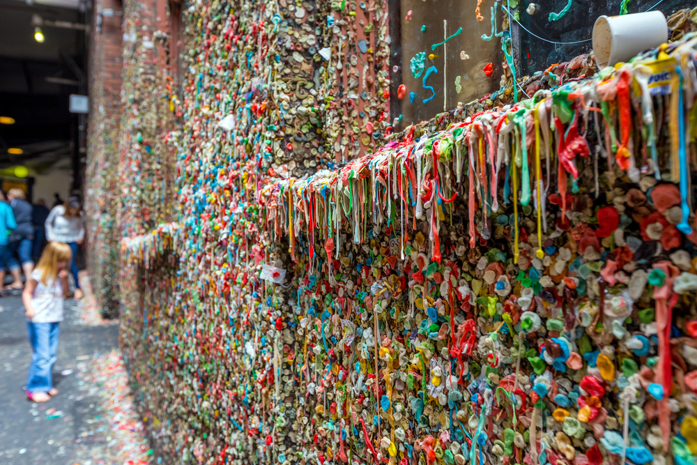 Stick a Piece of Gum to the famous Gum Wall while in Washington State!