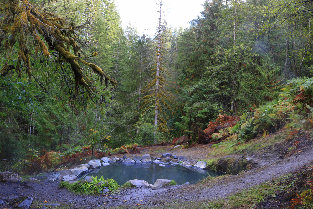 Soaking in the Olympic Hot Springs is one of the best things to do in Washington State!