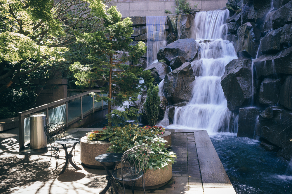 A hidden gem of Seattle, the UPS Waterfall Garden is one of the best places in Washington State to visit!