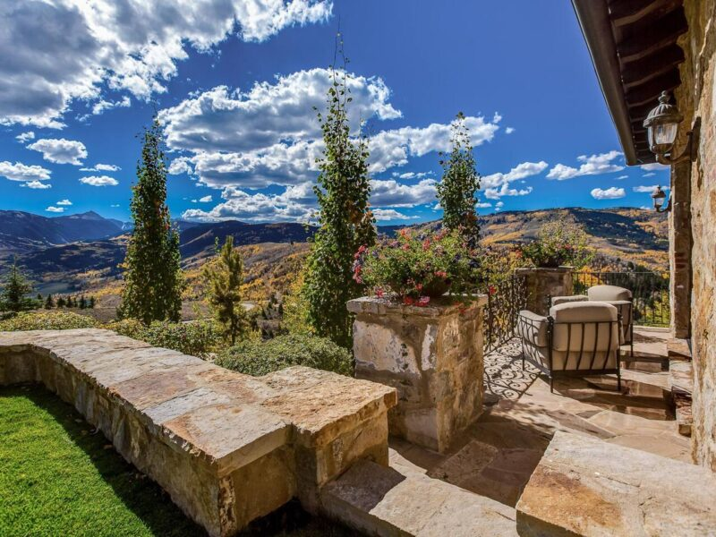 A Tuscan villa in the Colorado mountains