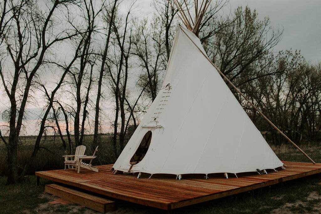 A teepee Airbnb in Colorado