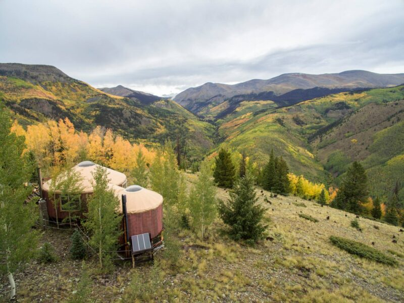 A yurt with an incredible mountain view