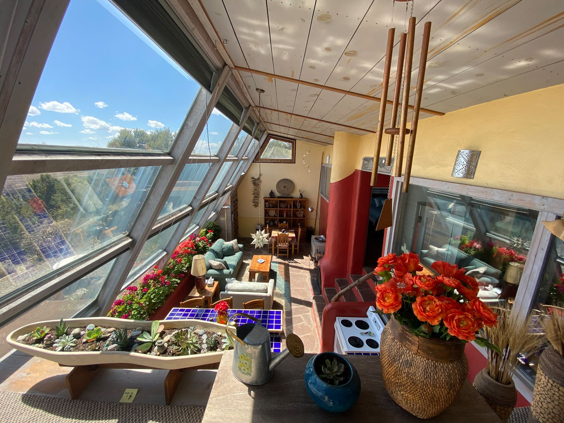 the Artsy Earthship Airbnb in New Mexico