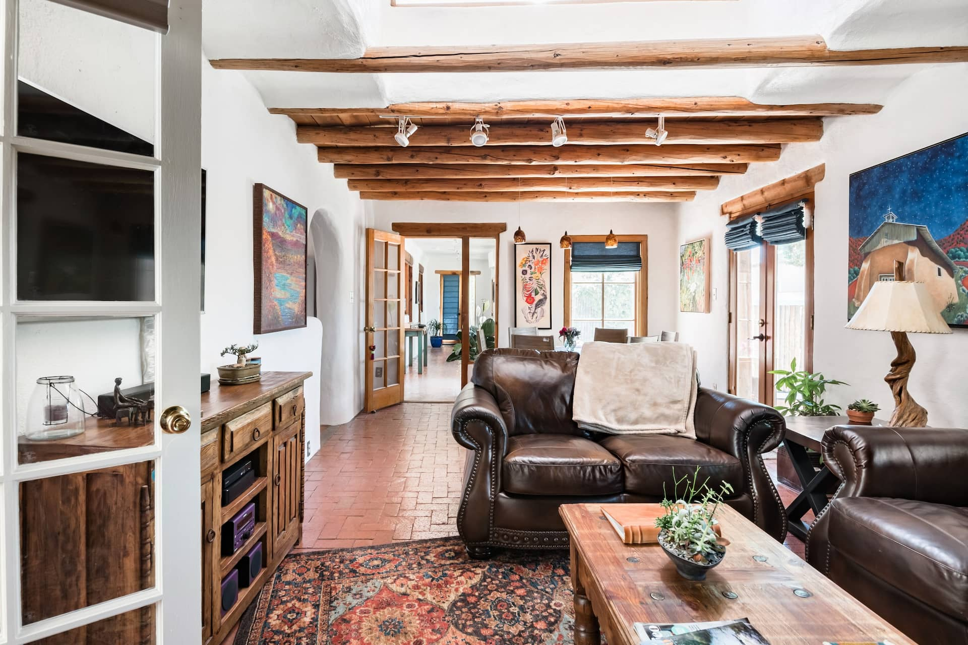 the Casa de Lavanda Airbnb in New Mexico