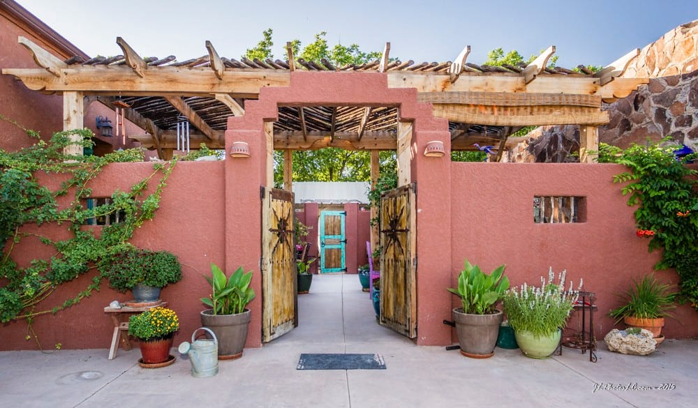 a charming casita with a patio and hot tub Airbnb in New Mexico