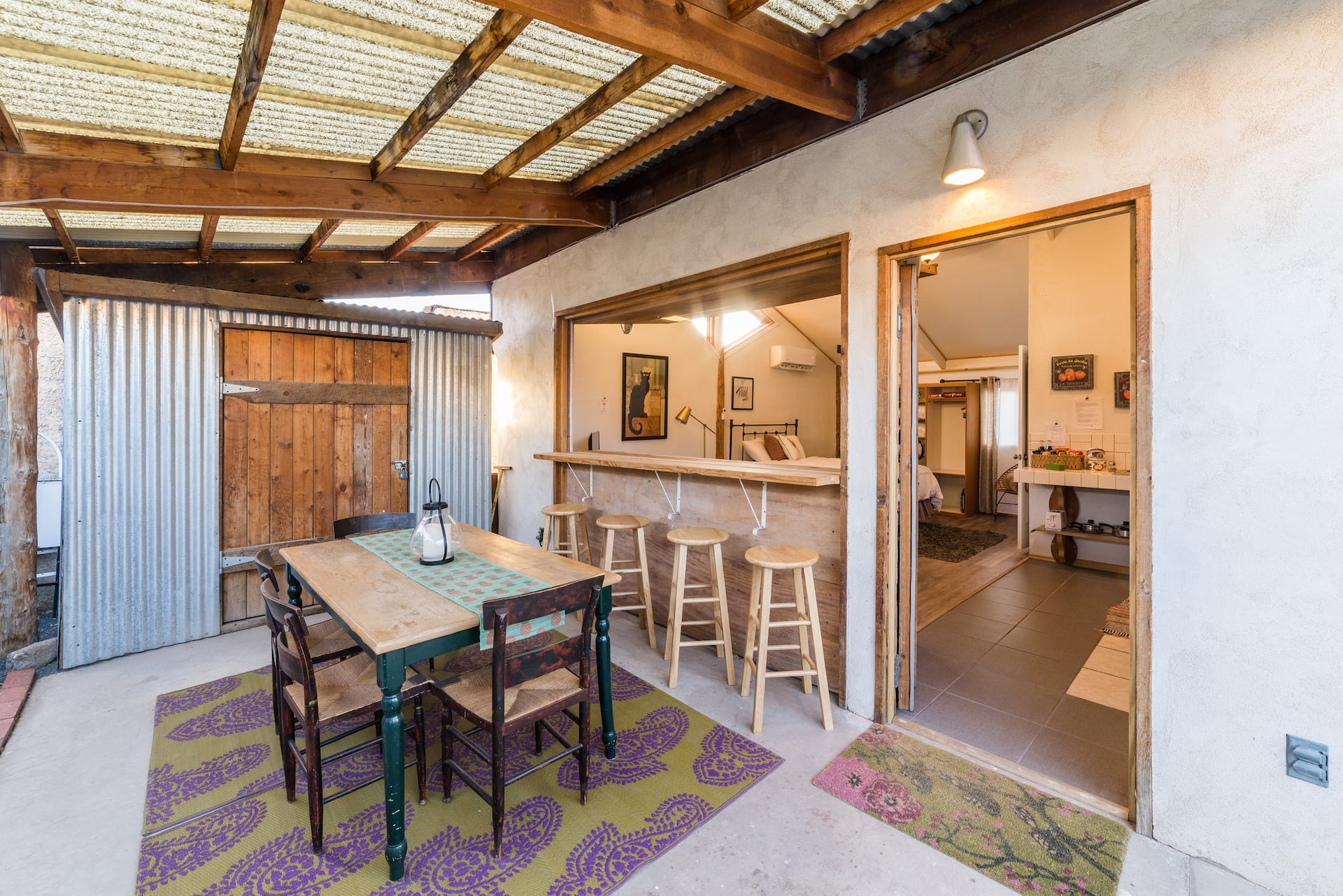 the Creative Casita open air living Airbnb in New Mexico