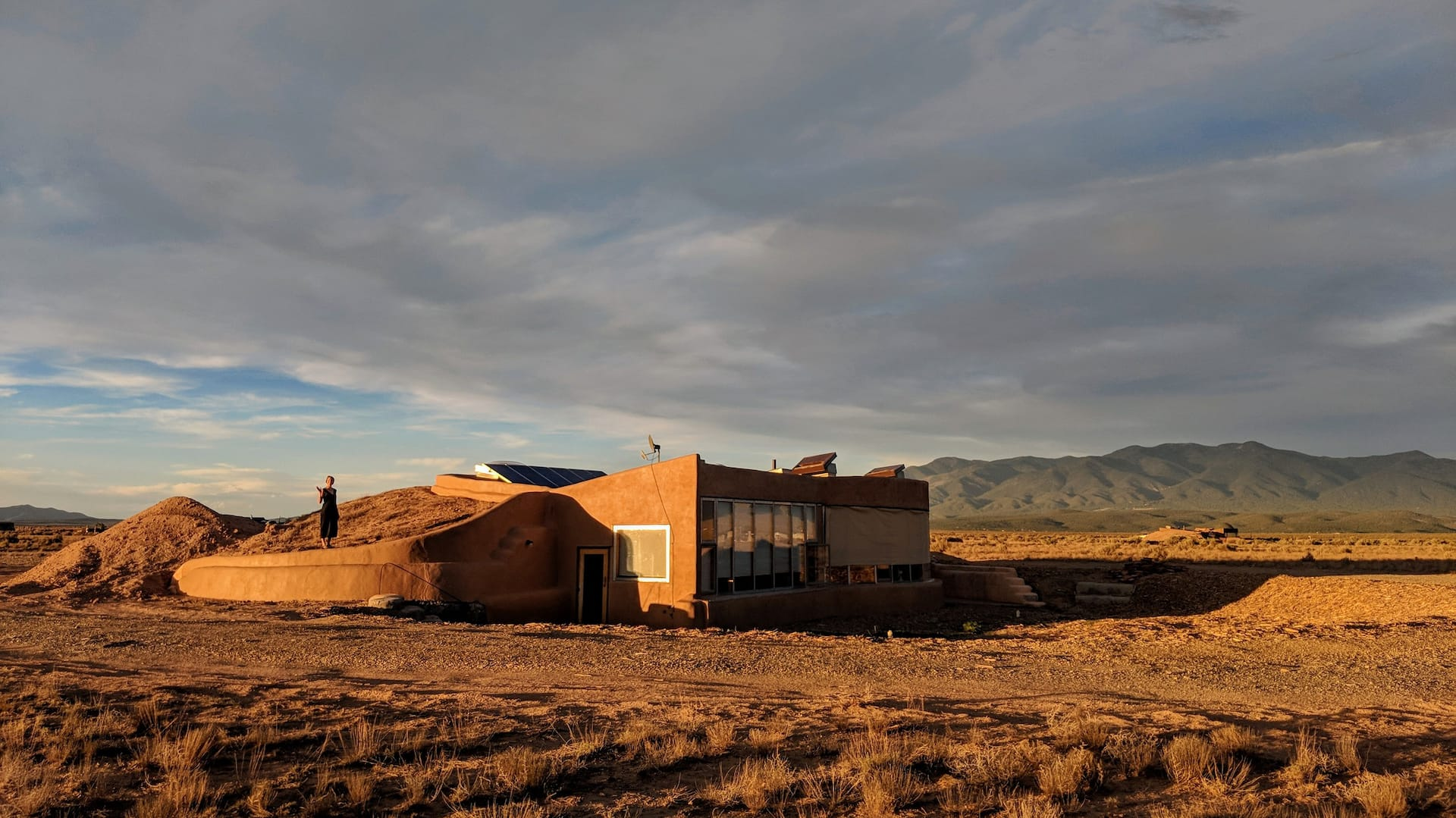 the Taos Earthship Airbnb in New Mexico