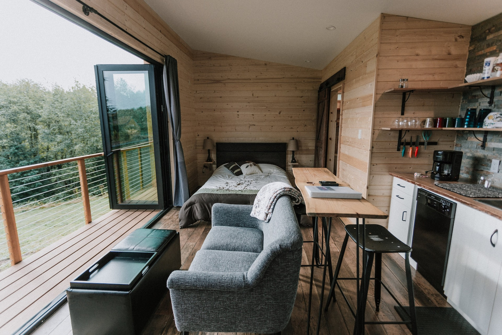 The Mt Hood View Tiny House Airbnb in Oregon