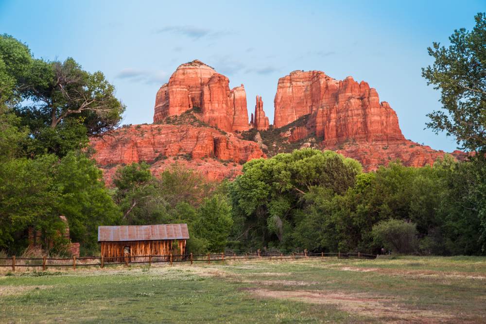 a Cathedral Rock view you might see from your Airbnb in Sedona