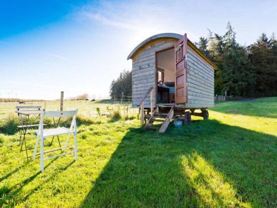 This shepherd's hut is a great glamping experience!