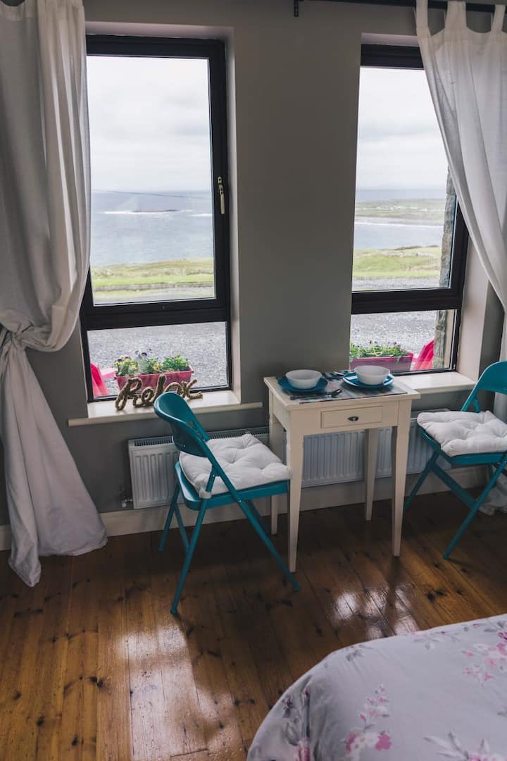 The airbnbs near the cliffs are best rented out to experience those stunning views.