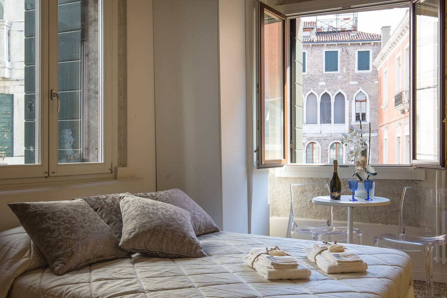 Stay on the oldest bridge in Venice in this Airbnb!