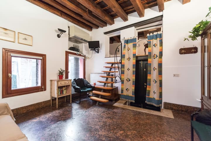 This uniquely set up airbnb is in the heart of venice!