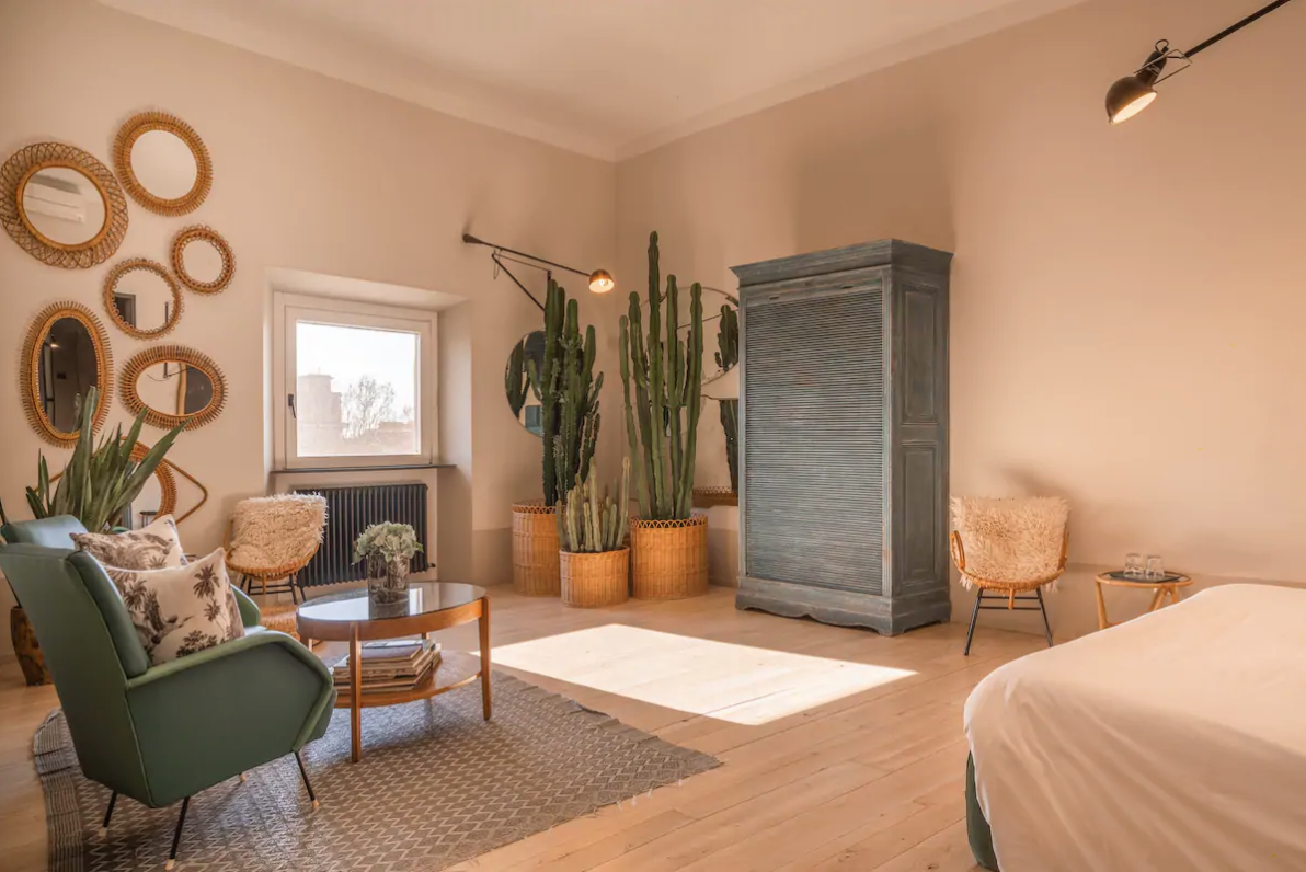 Don't discount bed and breakfasts when looking for airbnbs in rome - some are beautiful!