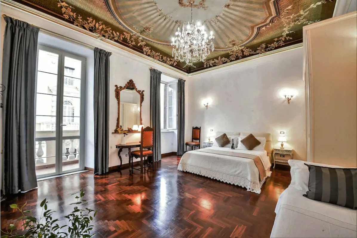 this bedroom will surely make you feel like you're staying in an italian palace!
