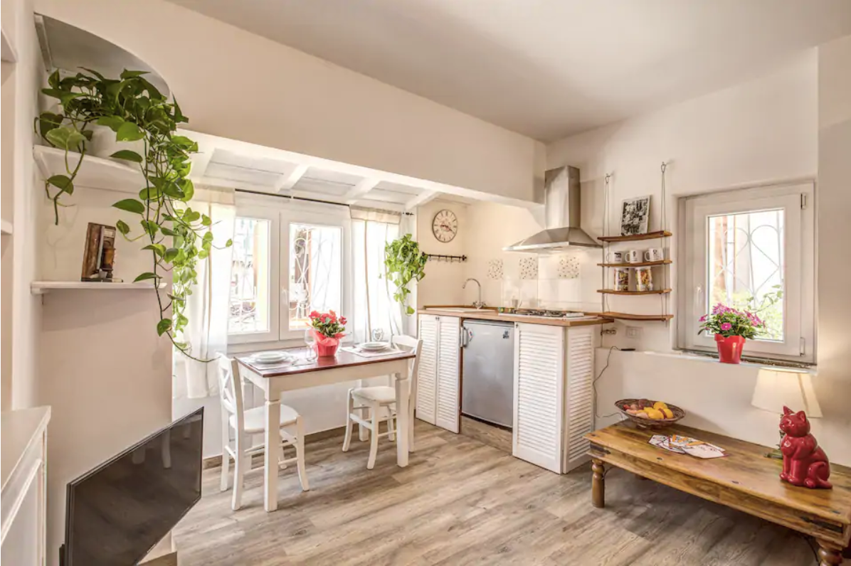 a cottage style airbnb in rome