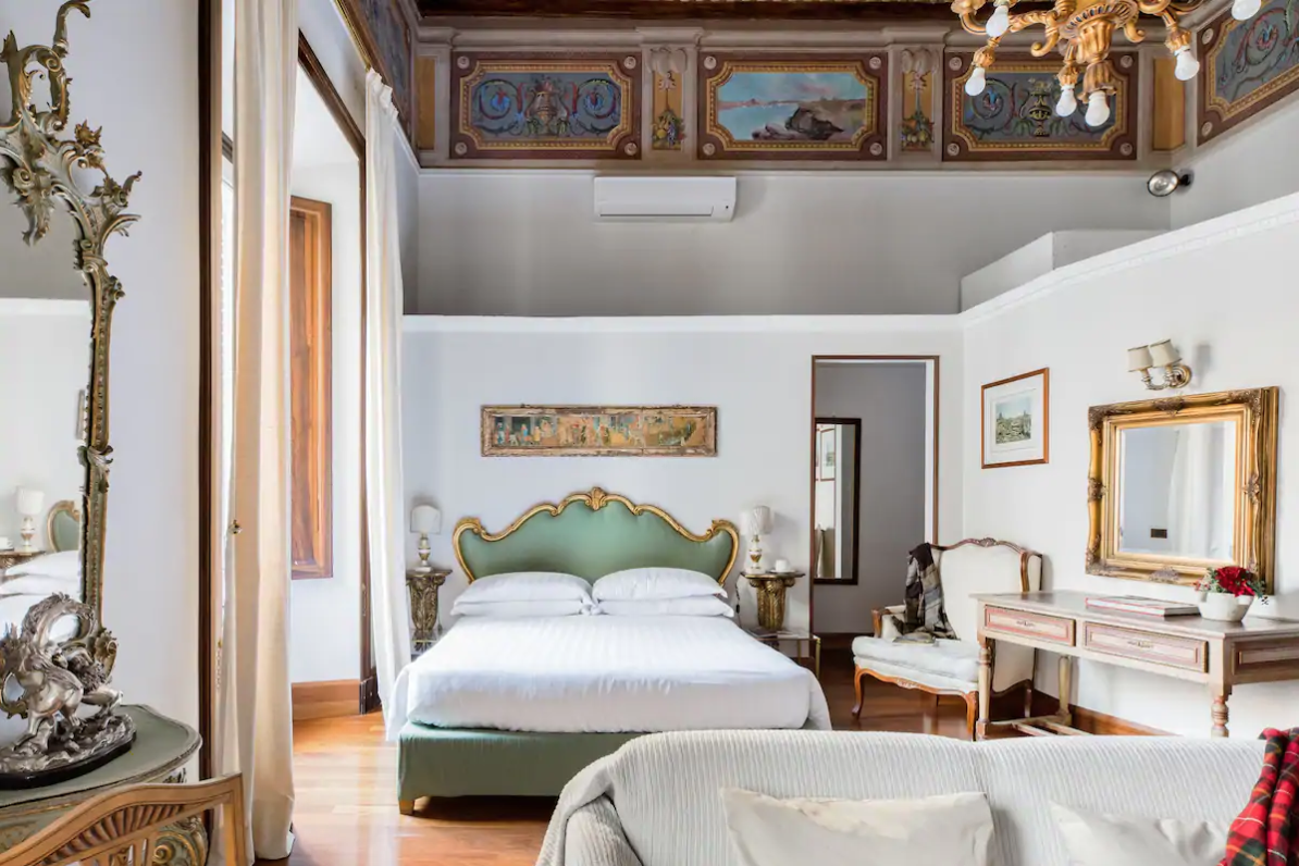 this beautiful airbnb is fit for a king or queen!